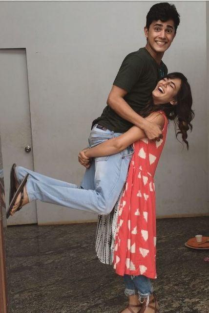 Priyanka Purohit with her brother