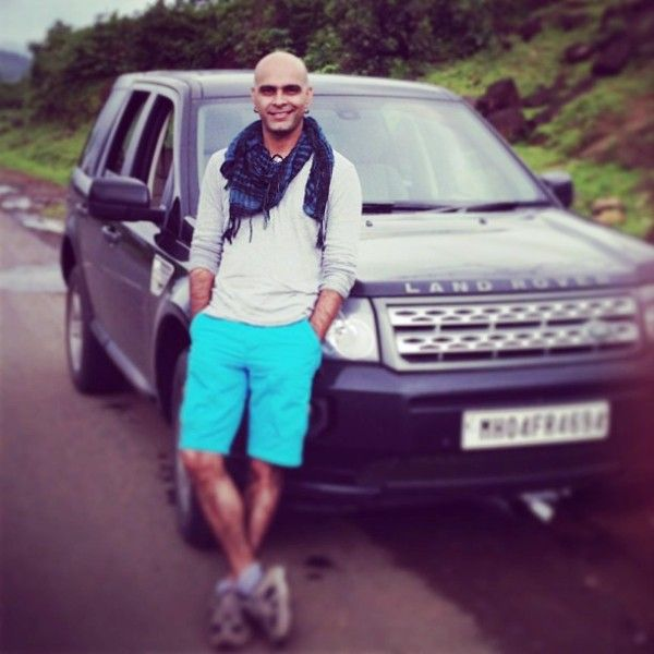 Raghu Ram with His Car