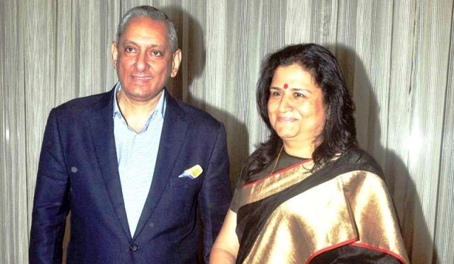 Rakesh Maria with his wife Preeti