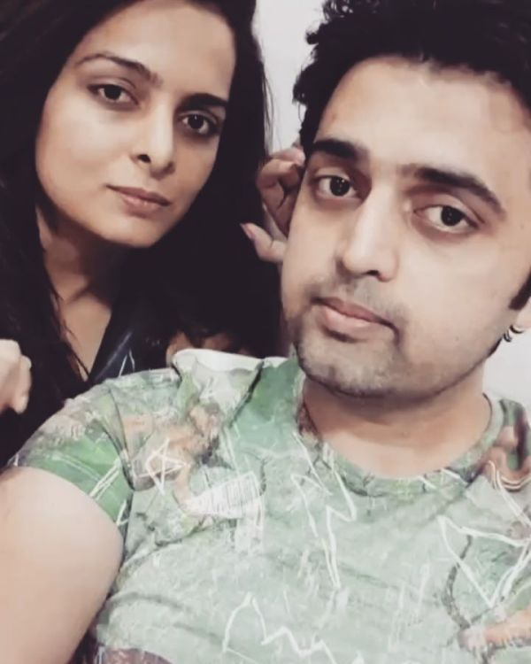 Ruhi Chaturvedi with her brother