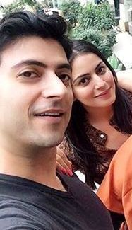 Shraddha Arya with her brother