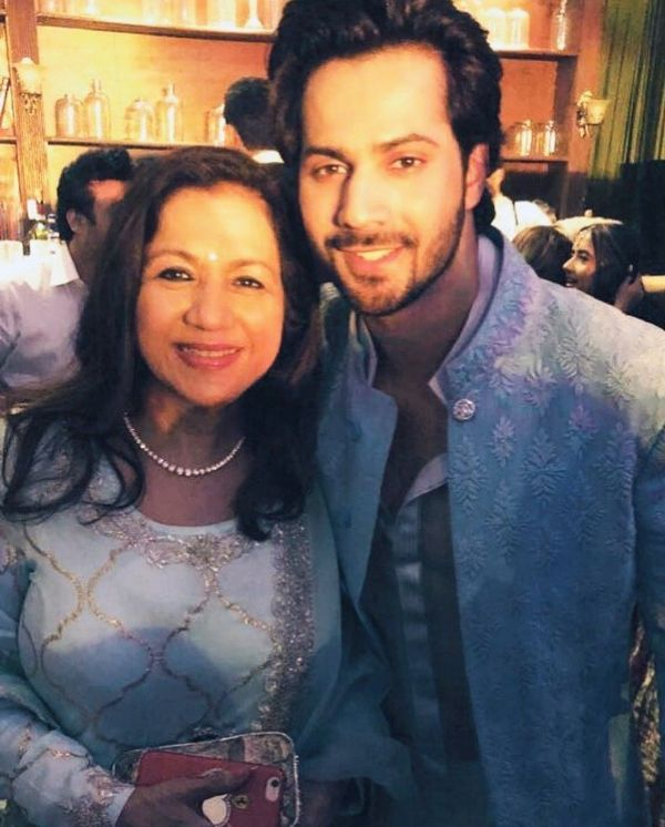 Varun Dhawan With His Mother