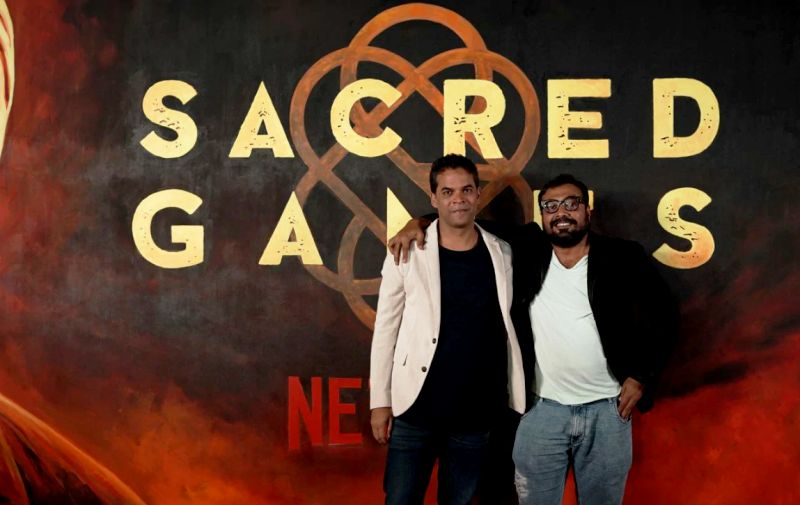 Vikramaditya Motwane with Anurag Kashyap at the launch of Sacred Games Season 2