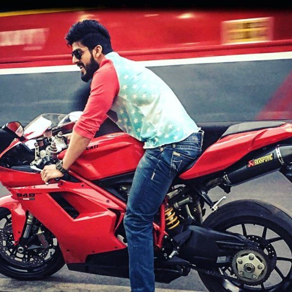 Vishu Reddy riding a Ducati