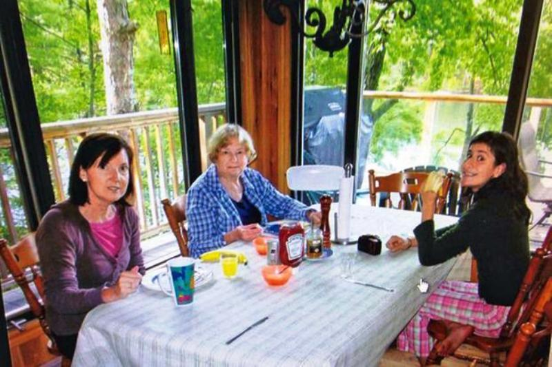 A recent picture of Sylvia (centre) with her daughter-in-law and granddaughter
