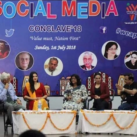 Amber Zaidi at Social Media Conclave