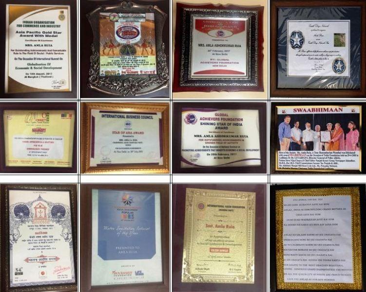 Amla Ruia's Awards