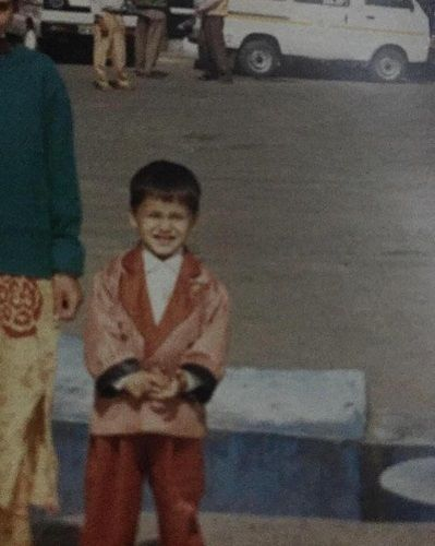 Asim Riaz's childhood picture