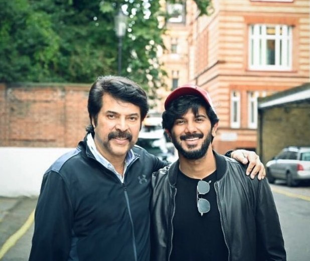 Dulquer Salmaan with his father