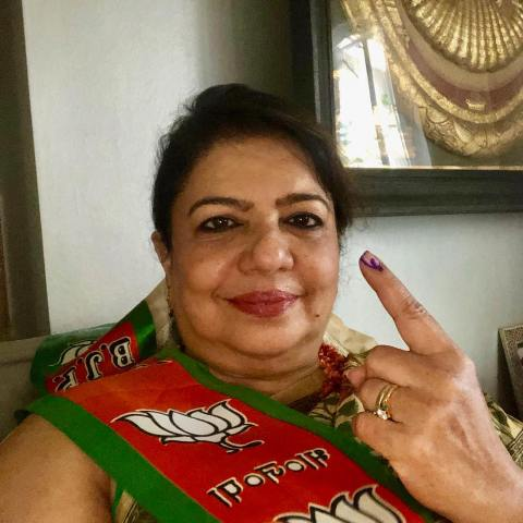 Madhu Chopra as a supporter of the BJP
