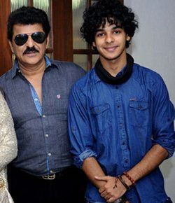 Rajesh Khattar with His Son Ishaan Khattar