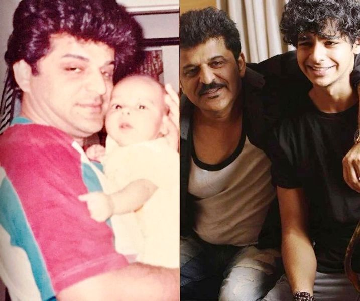 Rajesh Khattar with His Son Ishaan