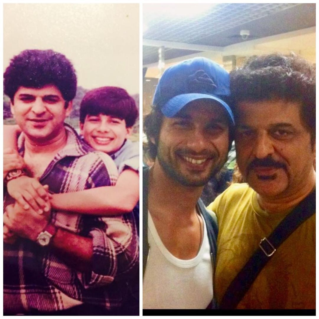 Rajesh Khattar with His Step Son Shahid Kapoor