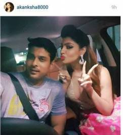 Siddharth Shukla with Akanksha Puri