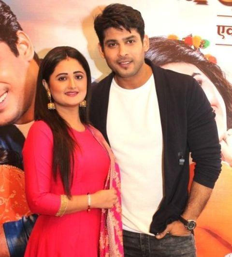 Siddharth Shukla with Rashami Desai