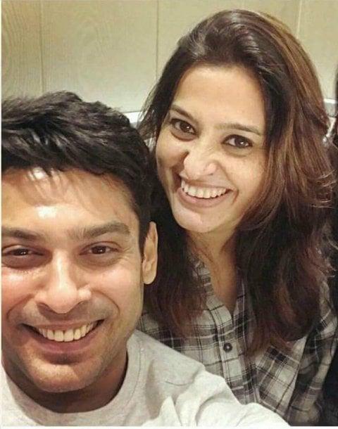 Sidharth Shukla with Smita Bansal
