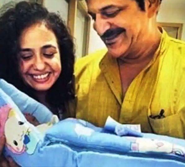 Vandana Sanjani with Her Husband and New Born Son