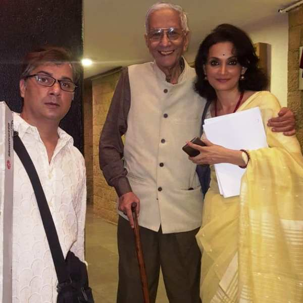 Varun Badola with His Father and Wife