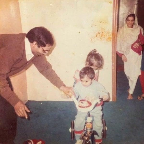 Yasser Desai as a child