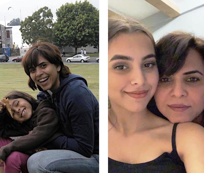 Aarti Bajaj with Her Daughter