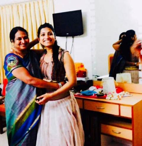 Amrapali Kata with her mother