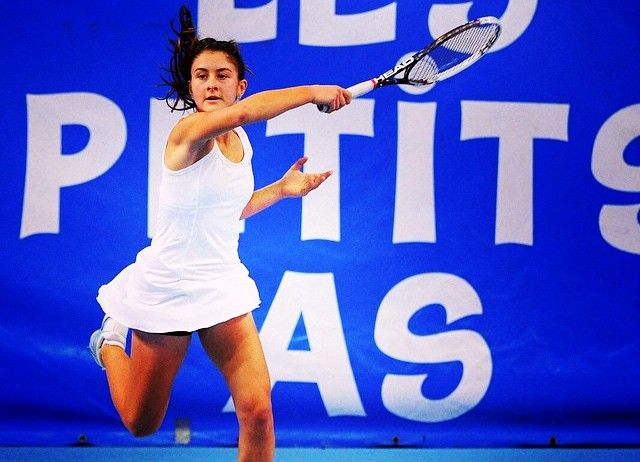 Bianca Andreescu during her younger days