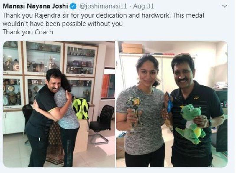 Manasi Joshi with Her Coach