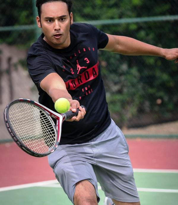 Mohammad Asaduddin Playing Tennis