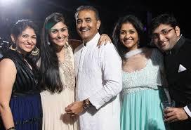 Praful Patel with his children