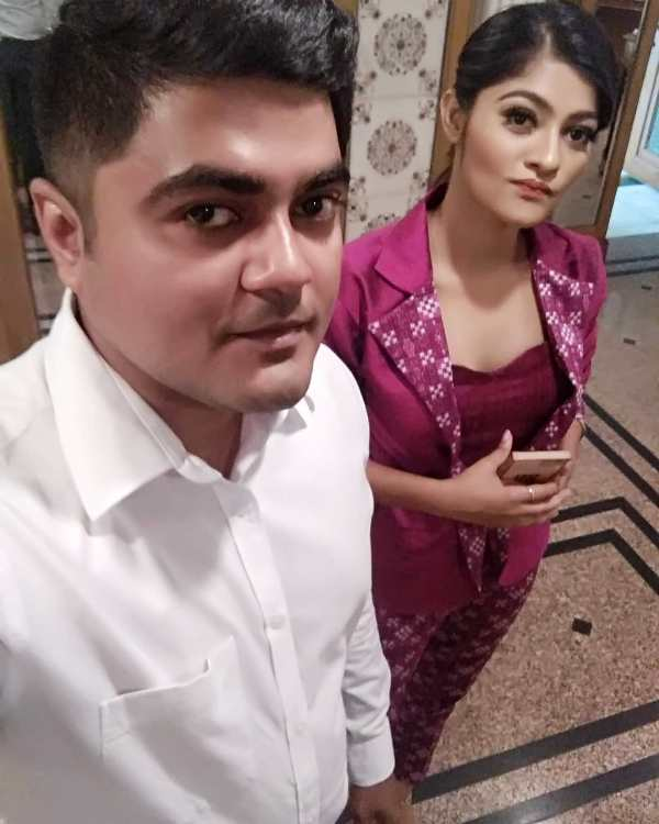 Prakruti Mishra with Her Brother- Manab