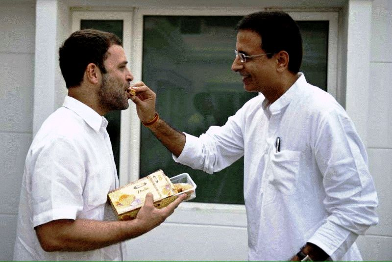 Randeep Surjewala with Rahul Gandhi