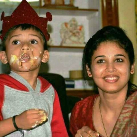 Rohini Sindhuri with her son