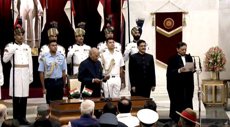SA Bobde taking oath as the Chief Justice of India (CJI)