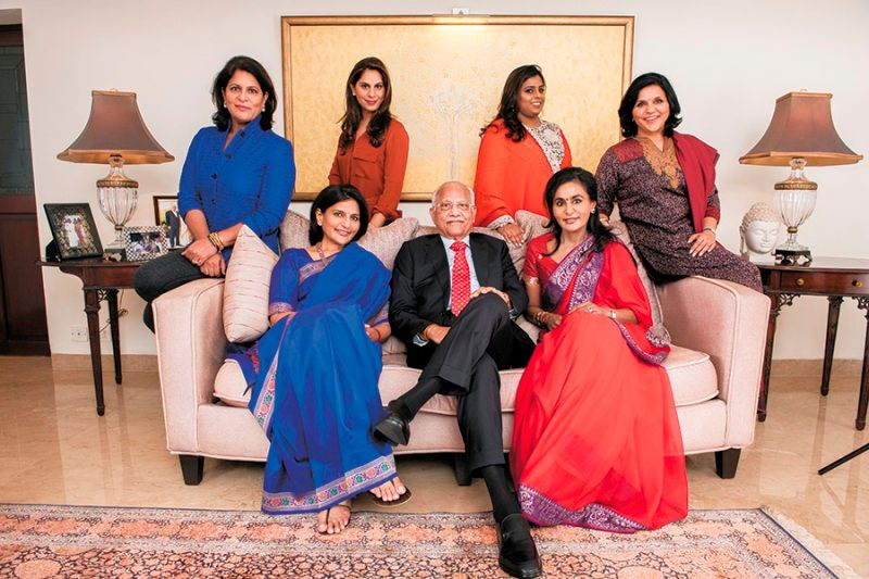 Upasana Kamineni with her Grandfather, Mother and aunts