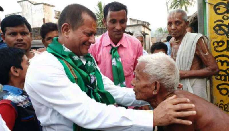 Achyuta Samanta in BJD's Rally
