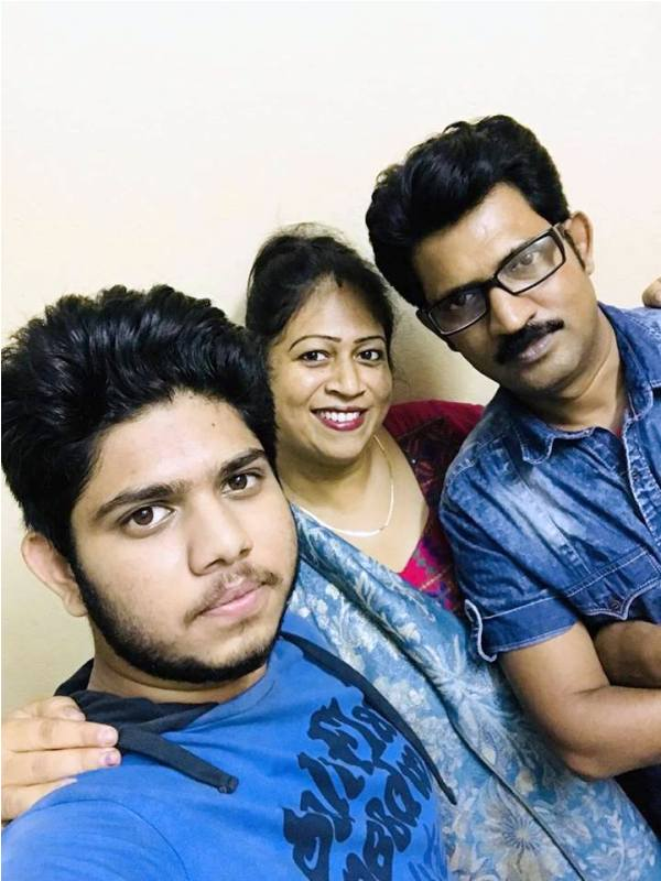 Adriz Ghosh with His Parents