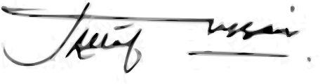 Altaf Hussain's signature