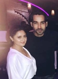 Arhaan Khan with Rashami Desai