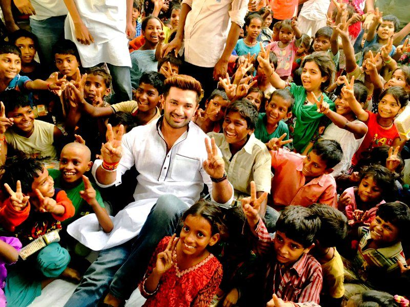 Chirag Paswan in an event organized by his NGO