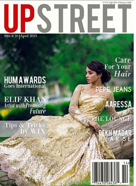 Elif Khan on the cover of Upstreet Magazine