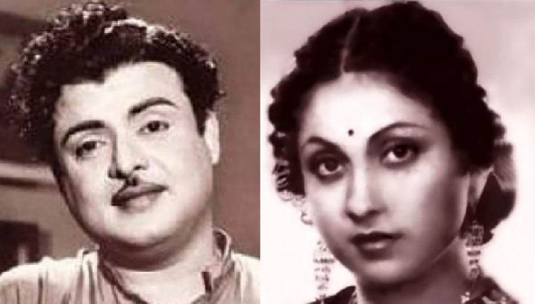 Gemini Ganesan with his wife Pushpavalli