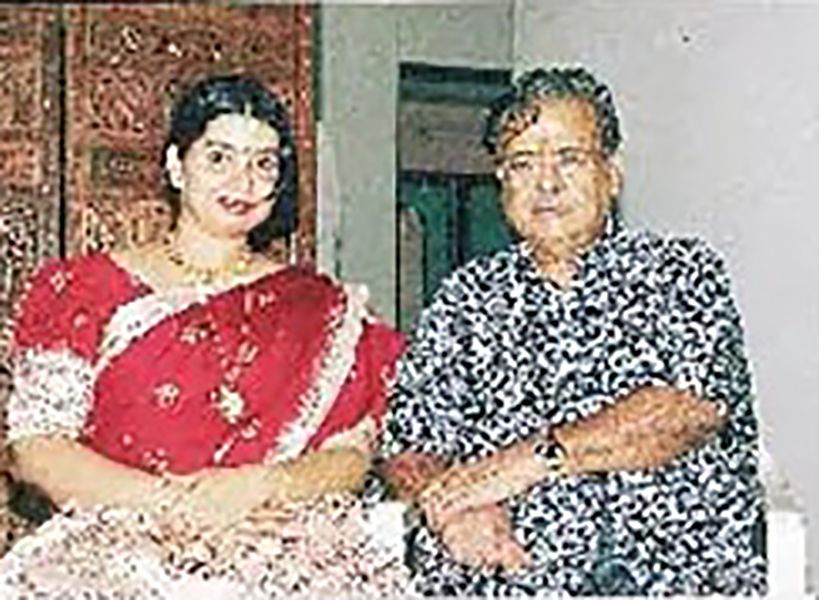 Gemini Ganesan with his wife Juliana Andrews