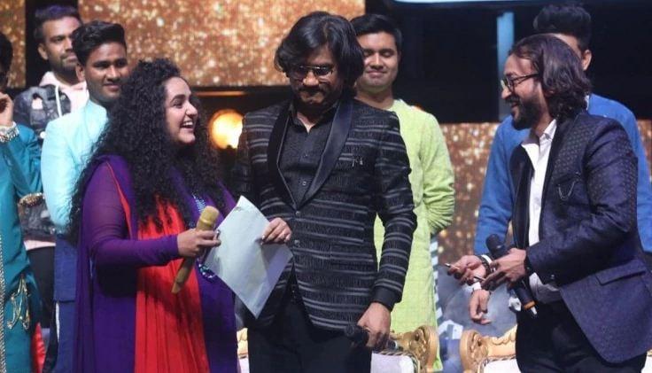 Jannabi Das with the music composers Ajay-Atul