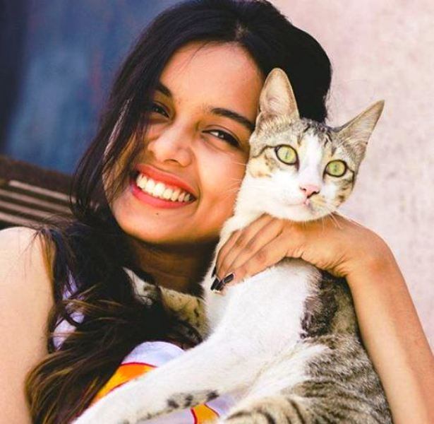 Megha Ray with Her Cat