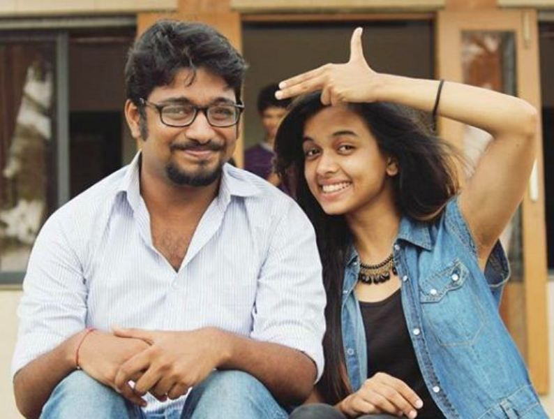 Megha Ray with Her Father