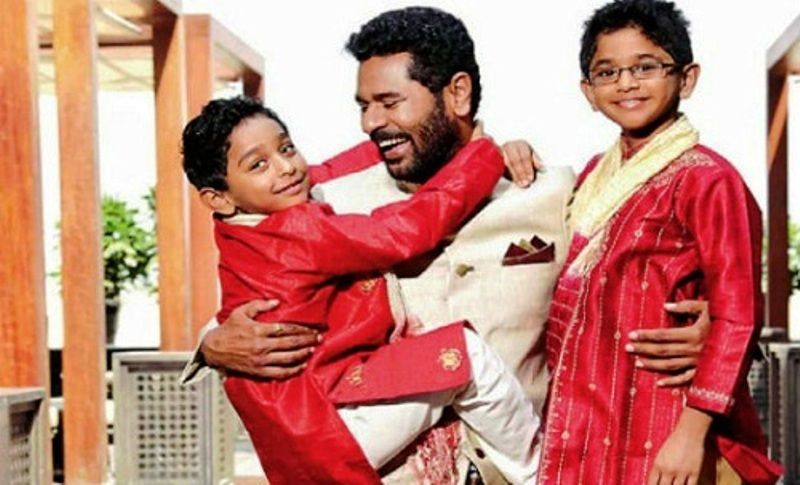 Prabhu Deva with His Sons