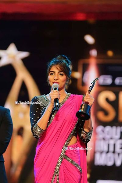 Rachita Ram with her SIIMA Awards