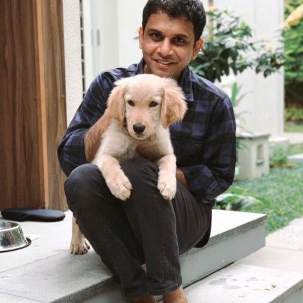 Rohan Murty with His Dog Gopi