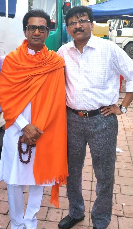 Sanjay Raut with Nawazuddin Siddiqui as Bal Thackeray