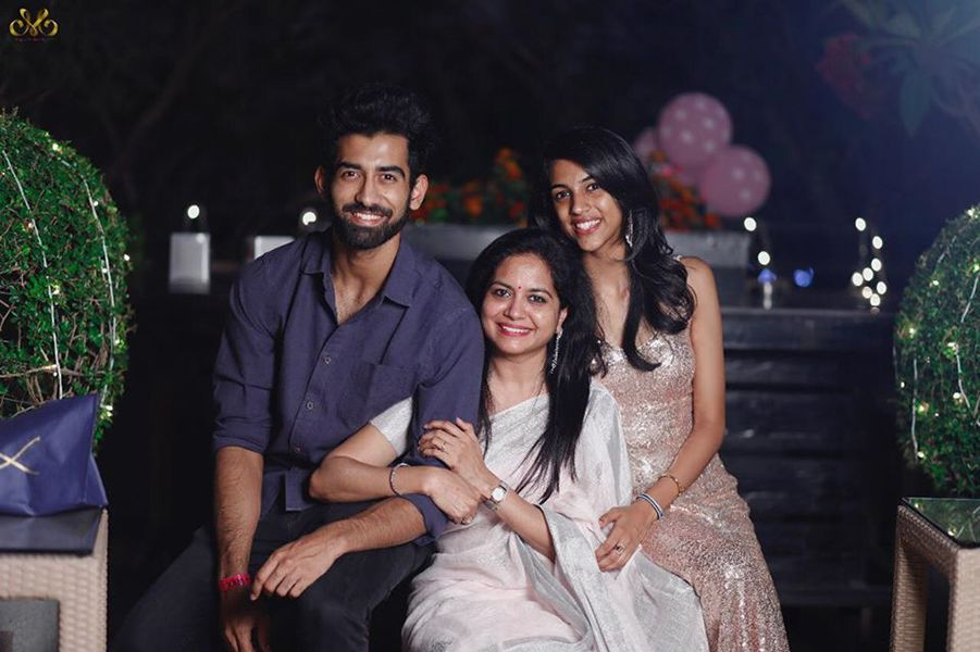 Sunitha Upadrashta with her children